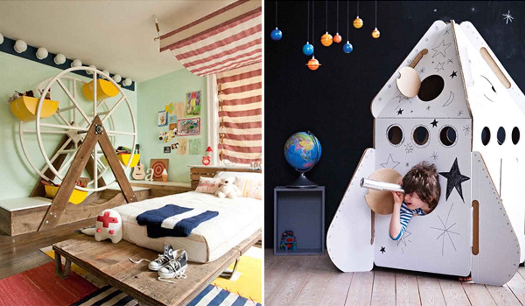La cameretta dei bambini la fantasia si trasforma in for Blog di design
