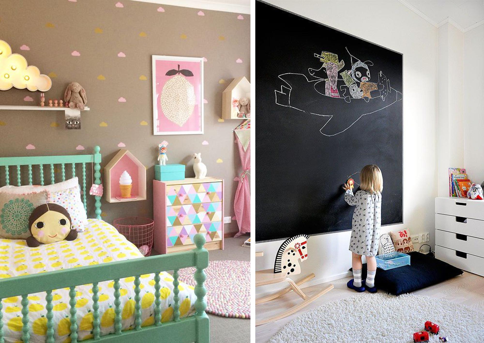 Pareti decorate per bambini parete decorata cameretta - Murales cameretta bimbi ...