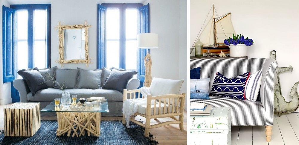 Pareti A Righe Blu : Pareti a righe shabby la mia casa in stile chic ...