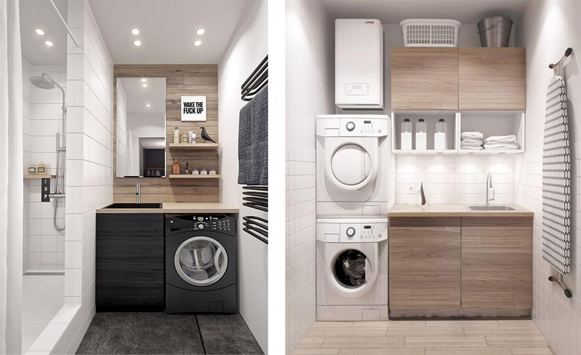 La lavanderia come organizzare lo spazio pi funzionale for Lavasciuga 45 cm